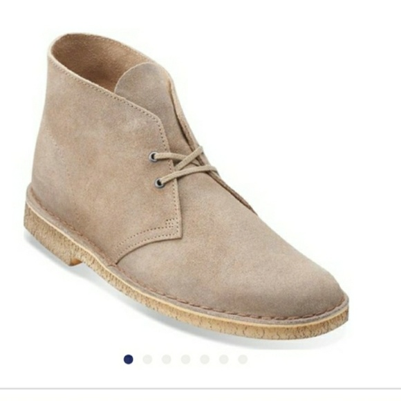 CLARKS SHOES DESERT BOOT M TAUPE SUEDE